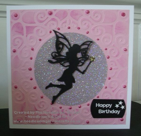 A sprinkling of fairy dust using Spellbinders Shapeabilities Die D-Lites Fairy Ariana and Hunkydory Silver Sparkle Ultra-Fine Glitter  www.needleworkgardencrafts.co.uk