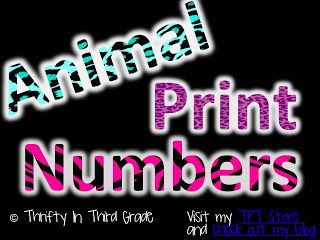 Animal Print Numbers Numbers 0-9 available in 3 animal print styles! Great blog with more animal print classroom ideas! FREE!!!