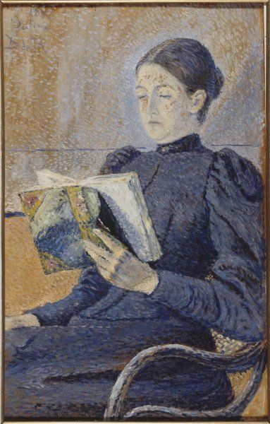 #womansday #LesXX founding member Darío de Regoyos (Spanish, 1857-1913), Retrato de Dolores Otaño, 1892, Óleo sobre tabla, 55x35cm, Museo Reina Sofía.