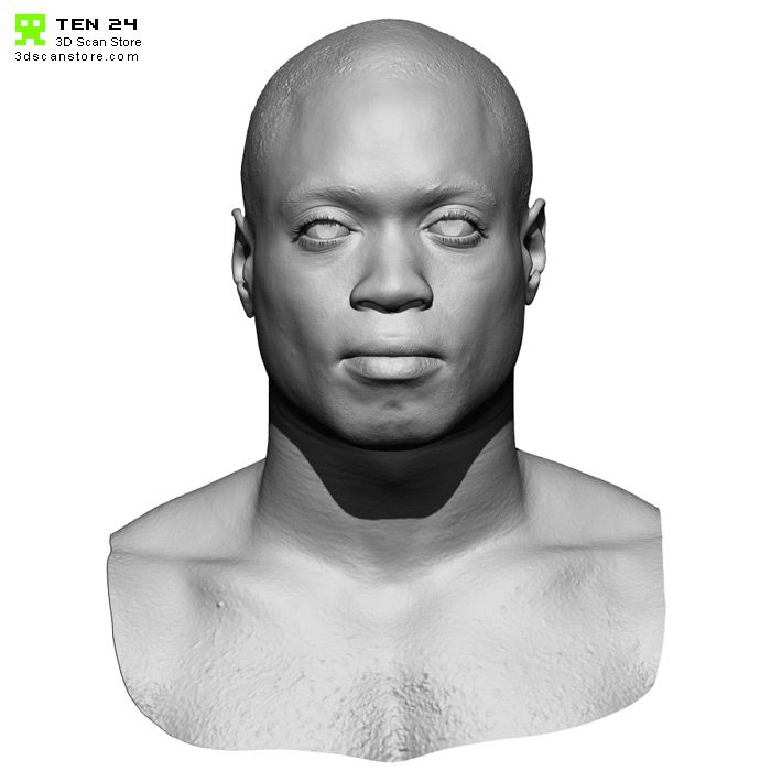 Male 02 Animation Ready Head Scan + Render scene