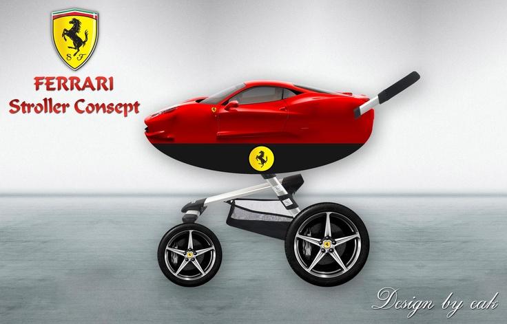 Ferrari Stroller Concept My Design Pinterest Baby