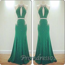 #promdress01 prom dresses - 2015 green chiffon open back long slim A-line senior prom dress for teens, ball gown, occasion dress #prom2k15 #promdress -> www.promdress01.c... #coniefox #2016prom