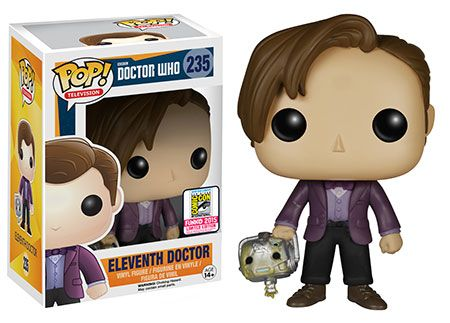 Doctor Who Eleventh Doctor with Handles (Cyberman head) Pop! figure by Funko, San Diego Comic Con 2015 exclusive