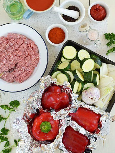 Leczo fit z mielonym mięsem z indyka - pyszne i lekkie - etap 1