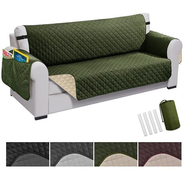 Recliner Cover Waterproof Quilted Sofa Cover For Pet Dog And Kids