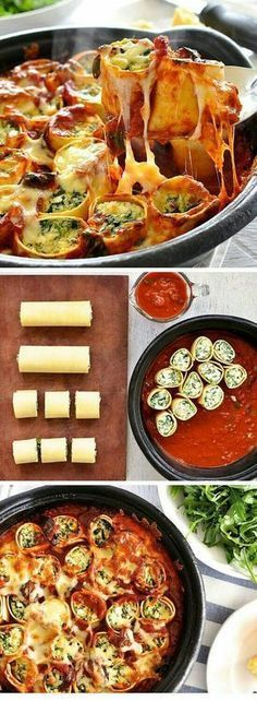 :) Nada mejor para esta tarde que rollitos de #lasaña con pollo y queso. ¡Te soprenderá lo #fácil que es preparar esta #receta! | Más en https://lomejordelawe