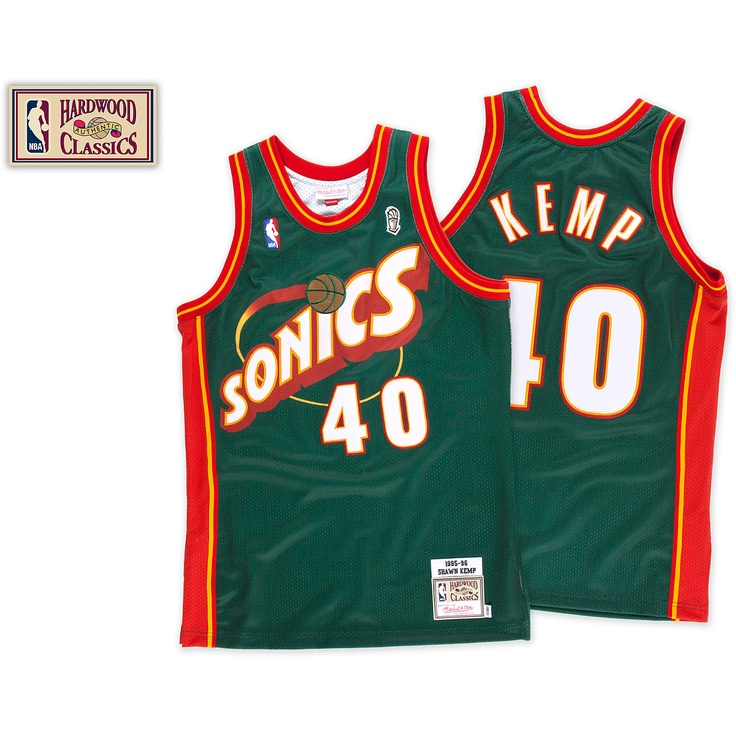 Mitchell \u0026 Ness Seattle Supersonics Shawn Kemp 1995-96 Authentic Jersey -  NBAStore.com