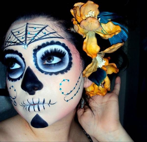 66 best maquillaje mexicano images on pinterest artistic make up day of dead and makeup artistry - Maquillage dia de los muertos ...