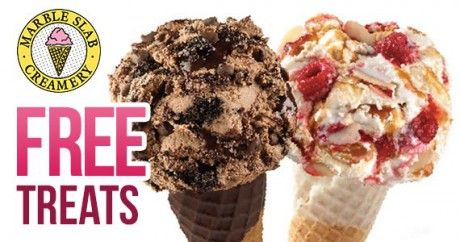 Join the Marble Slab Creamery for Free Treats