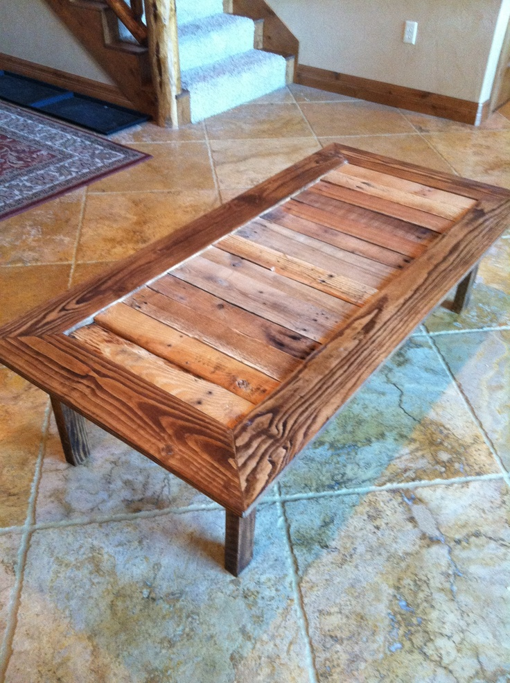 Pallet Coffee Table I Made Working With Wood Pinterest
