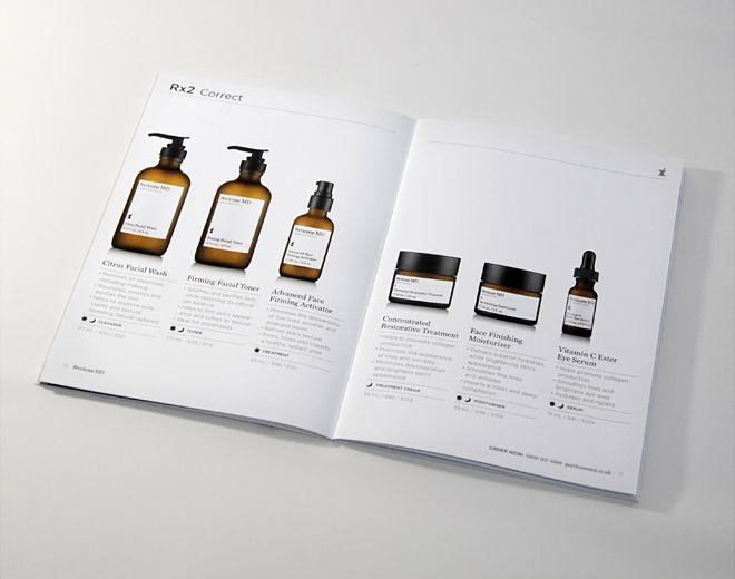 Perricone md product brochure layout pinterest for Furniture brochure design inspiration