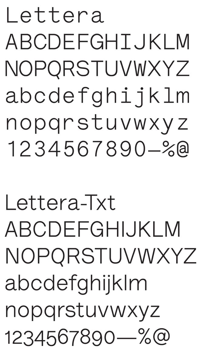 From Lettera to Lettera-Txt - Lettera-Txt