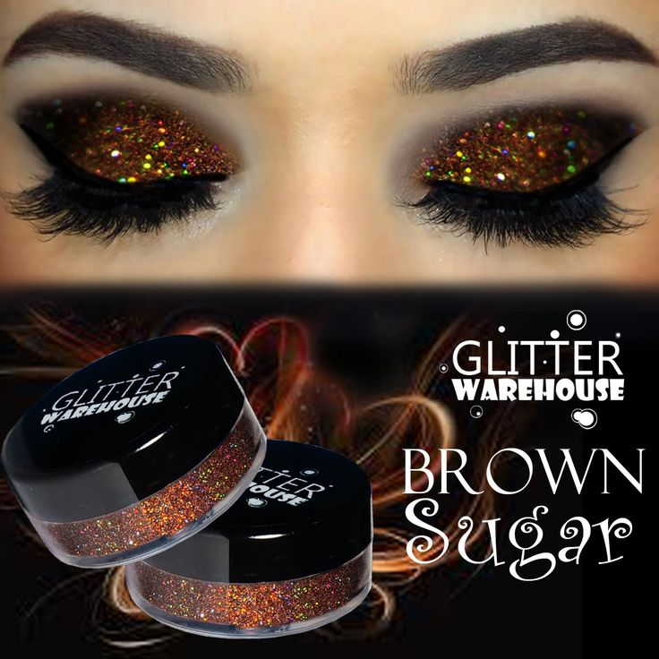 GlitterWarehouse Brown Sugar Holographic Loose Glitter Eye Shadow Powder (20g Jar). Large 20g Jar with .3 oz of Loose Glitter Powder. Create Fabulously Sexy Eyes, Lips and Body Tattoos. Excellent for Nail Art, Makeup, Body Art, Crafts and More. Great For any occasion to add color, pop and glamour!. For Best Results, Use Glitter Primer / Glue To Apply Our Loose Glitter Powders.