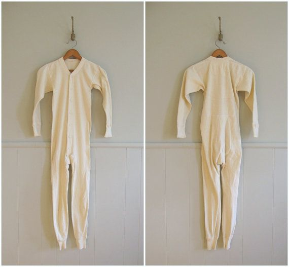 1940s cotton long johns  {via Greatest Friend @Etsy} Saw Granny wearing something like this under her sleep wear