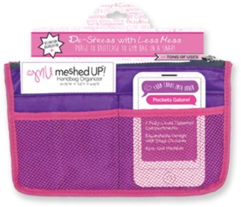 Wholesale Meshed Up Handbag Organizer - Purple (Case of 20)