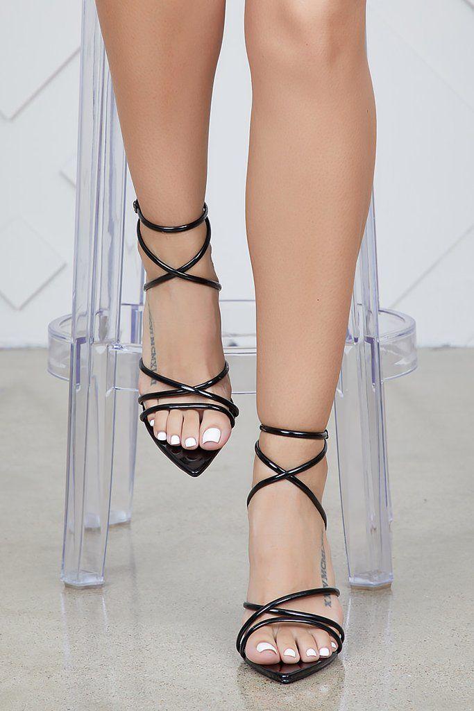 e47e9cc1c20 Ada Pointed Toe Strappy Heel (Black)- FINAL SALE
