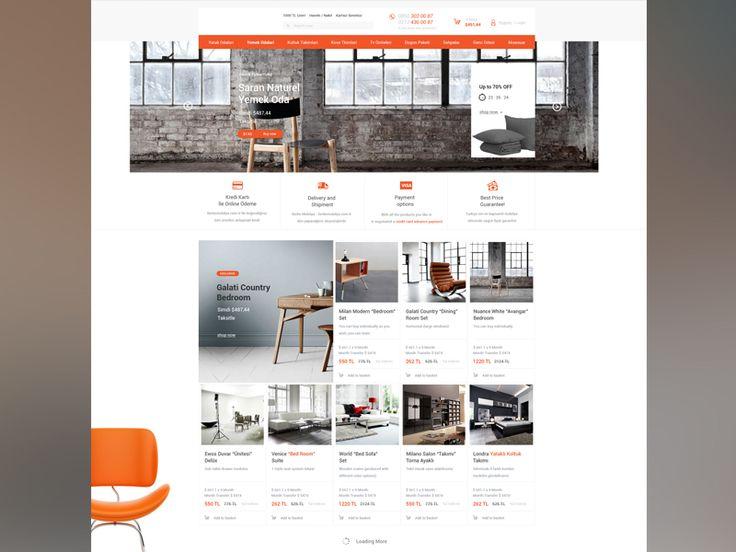Furniture Ecommerce Web Design  by Aleksandar Nikcevic #Design Popular #Dribbble #shots