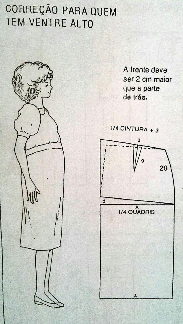 Correção para quem tem o ventre alto