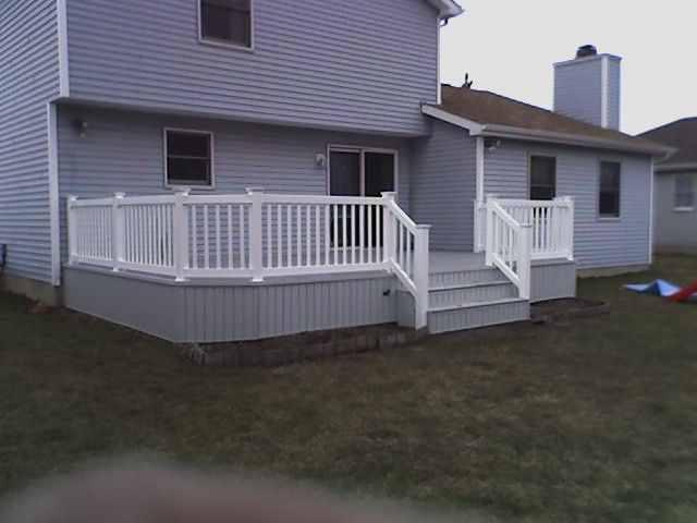 White Deck Skirting Light Gray Pvc Decking With White