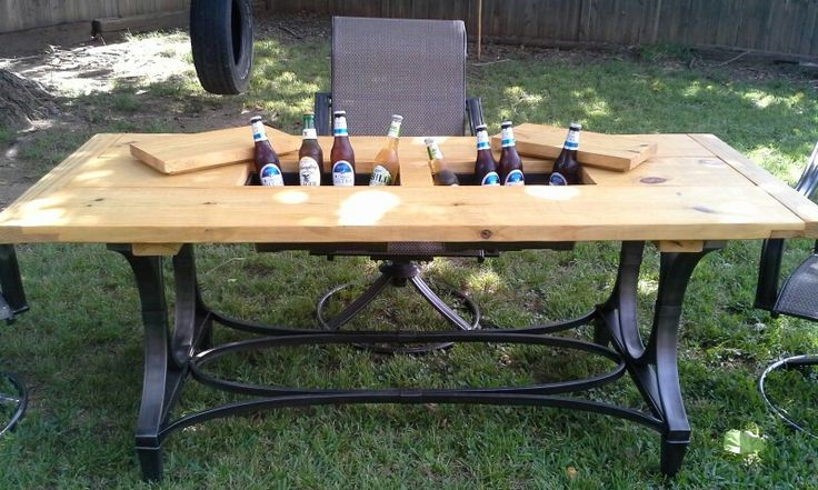 Our MNDdezigns cooler table MNDdezign Projects Pinterest