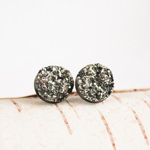 Silver Druzy Earrings by Birch Jewellery #jewelry #earrings