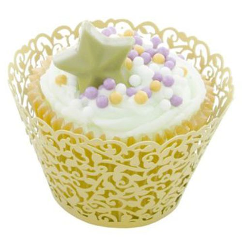 Pale Yellow - cupcake wrappers