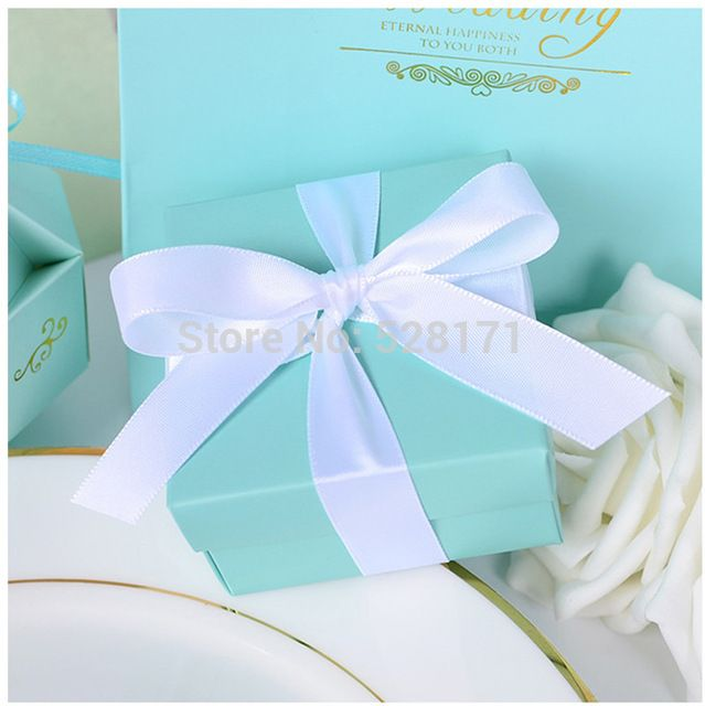 Wedding Gift Box Tiffany Blue : 120PCS Tiffany Blue Wedding Candy Box Wedding Favor Boxes Tiffany Blue ...