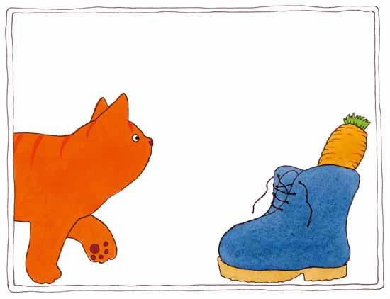 Er zit een wortel i die schoen. Waarom zou dat zijn?