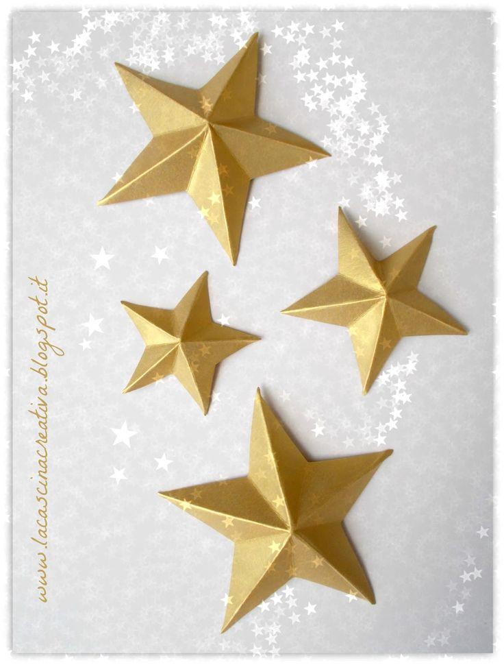 Oltre 25 idee originali per stelle di origami su pinterest for Stelle di carta tridimensionali