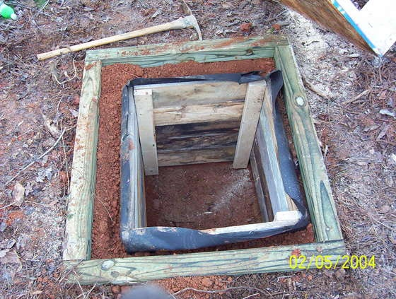 Simple outhouse pit