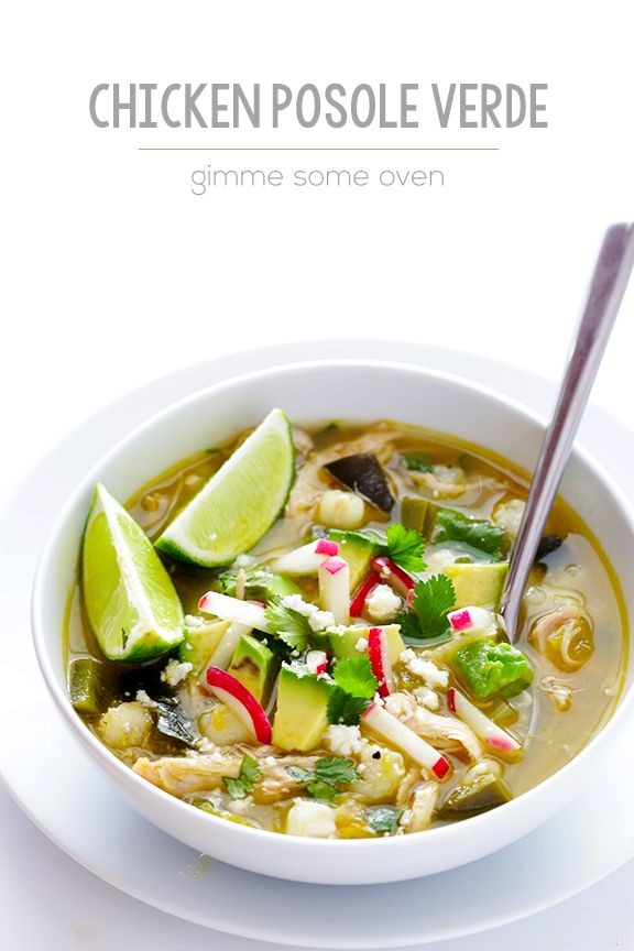 This easy chicken posole verde recipe can be made in just 20 minutes on the stove, or easily in your slow cooker. So flavorful and comforting!