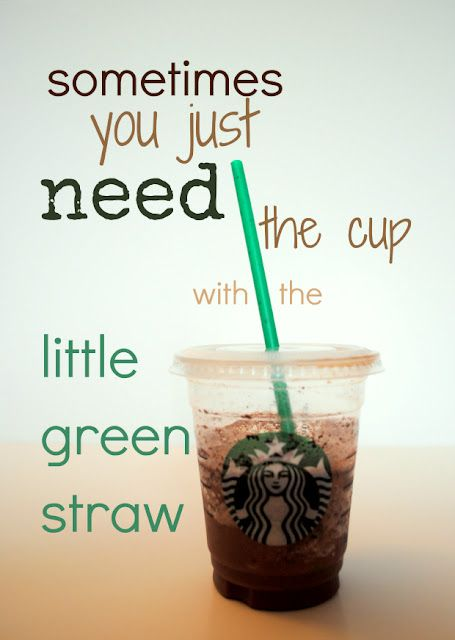 Very true!Cups, Quotes, True Facts, Green Straws, So True, White Girls, Ice Coffe, True Stories, Starbucks