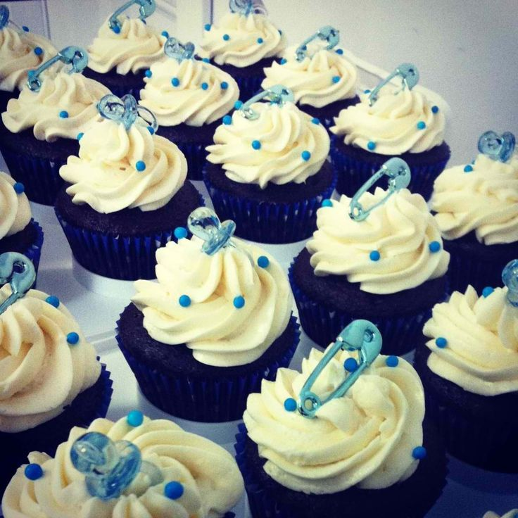 cupcake ideas baby cakes baking cakes baby boy shower cupcakes baby