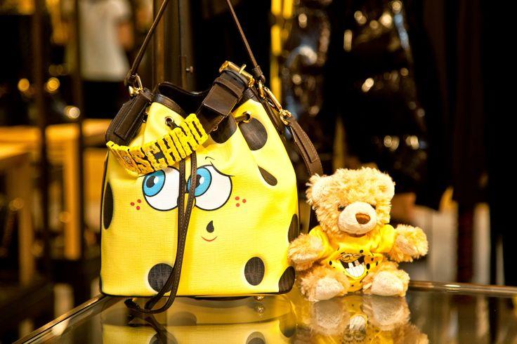 Moschino fall winter 2014-2015 by jeremy scott cocktail party altaroma July 2014. Moschino Bag Spongebob