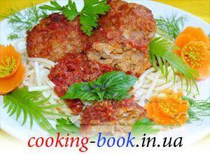 Рецепт: Мясные тефтели с рисом