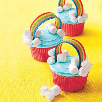 Rainbow cupcakes, cute for a kid party!