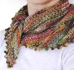 """A """"goes with anything scarf"""". Free Ravelry download"""