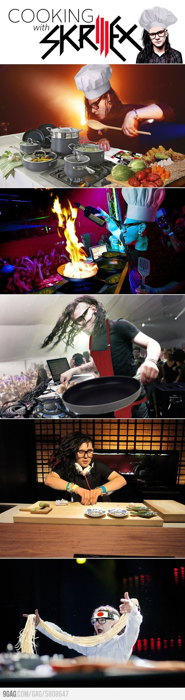 Cooking with Skrillex. #dubstep #skrillex