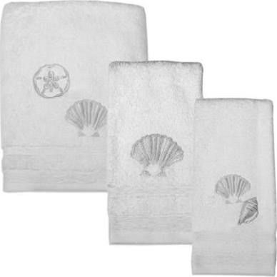 seashell bath towel