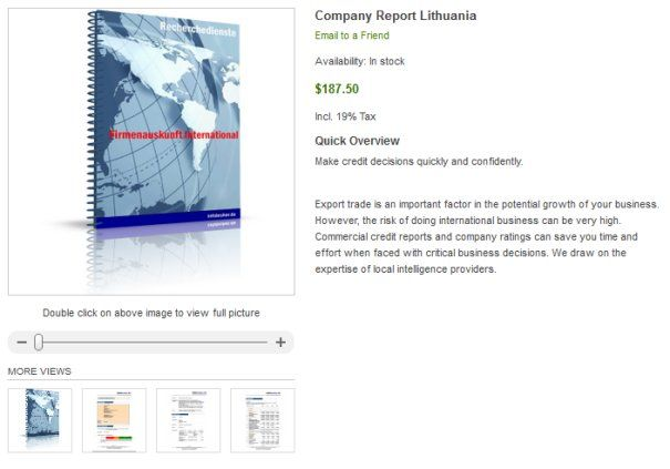 Company Check Lithuania - How can I check Lithuanian company? How to check the legitimacy of your Chinese buyers or partners? Are they a real company? Are there financial information and rating data available? How can I get official data about the company?    However, the risk of doing international business can be very high. Commercial credit reports and company ratings can save you time and effort when faced with critical business decisions.