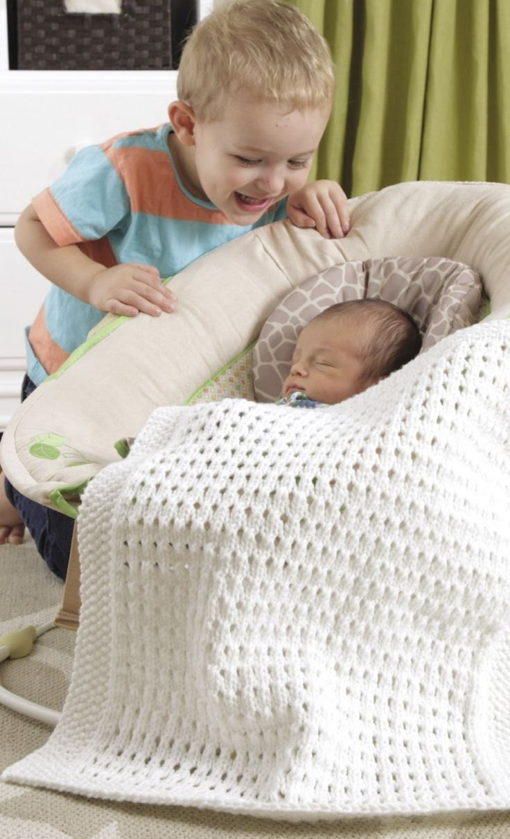 Car-seat blanket for baby and toddler, PDF knitting pattern | Car ...