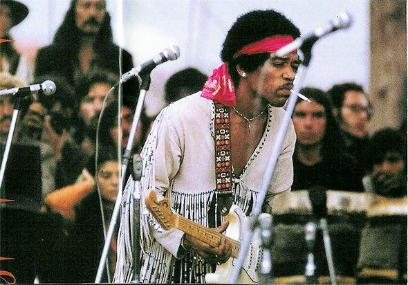 Jimi Hendrix @ Woodstock (1969). Wish i could have been there so bad.