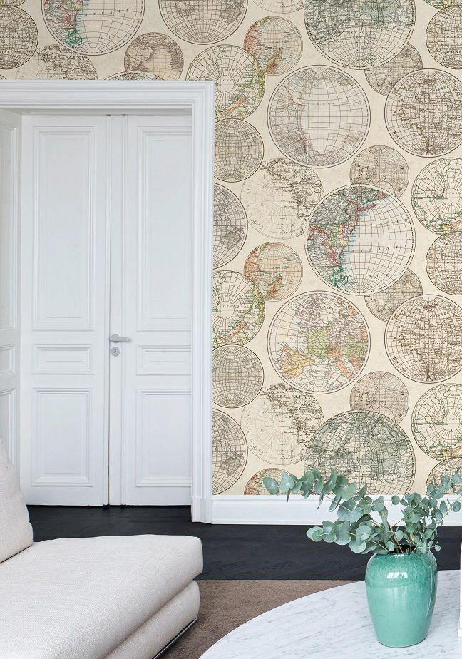 31 beste afbeeldingen van wereldkaarten en plattegronden als behang maps as wallpaper - Fries behang wall ...