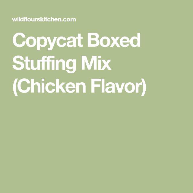 Copycat Boxed Stuffing Mix (Chicken Flavor)