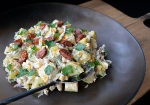 Middle Eastern Potato salad - this super tasty salad shames a plain old potato salad any day.