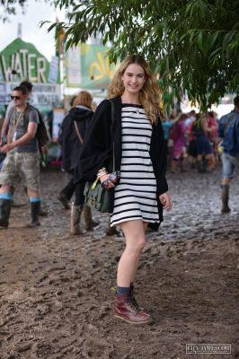 lily james 2014 Glastonbury Music Festival