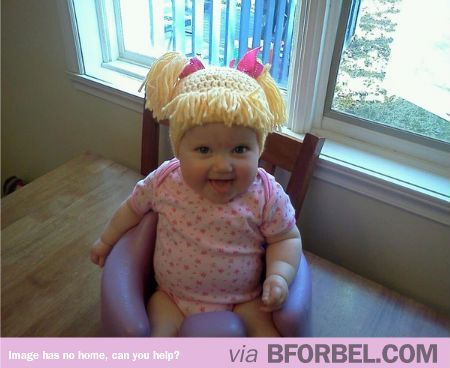 Cabbage patch knit hat for babies. So cute lol!