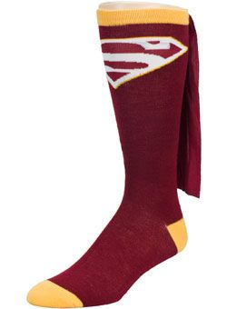 The Superman caped socks worn by Robert Griffin III are now in Washington #Redskins team colors! Cheer on the Redskins in Superman-style with these awesome caped socks!