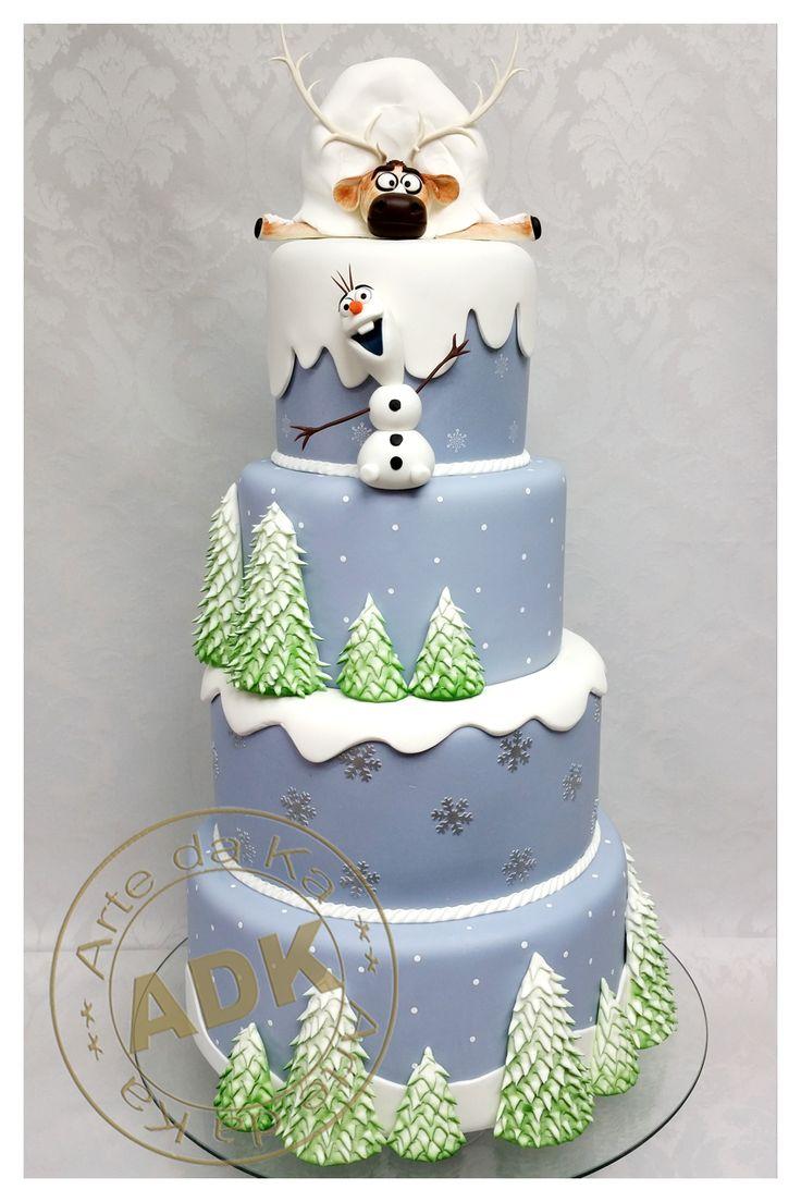 Olaf - Sven - Frozen - Cake