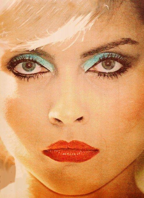 Debbie Harry makeup 1970's.